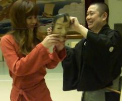 平野区民センター 能体験 講師:山中雅志さん
