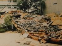 阪神淡路大震災で被害を受けた沢の鶴資料館