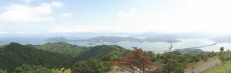 成相山のパノラマビューポイントから見た天橋立