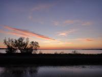 カマルグ湿原の夕焼け