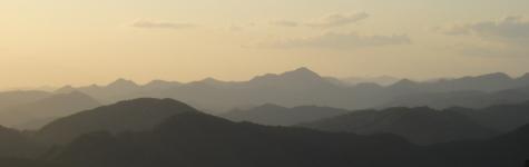 妙見山の夕暮れ