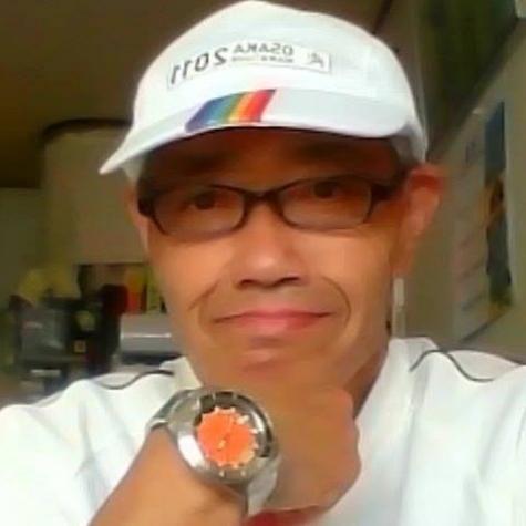 第一回大阪マラソン参加時の自撮画像